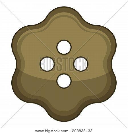 Fashion cloth button icon. Cartoon illustration of fashion cloth button vector icon for web