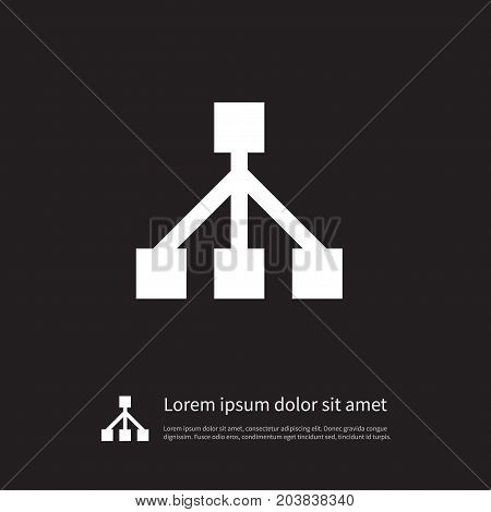 Structure Vector Element Can Be Used For Hierarchy, Framework, Team Design Concept.  Isolated Framework Icon.