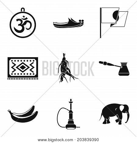 Healing thing icons set. Simple set of 9 healing thing vector icons for web isolated on white background