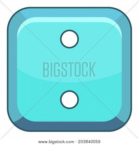 Square cloth button icon. Cartoon illustration of square cloth button vector icon for web