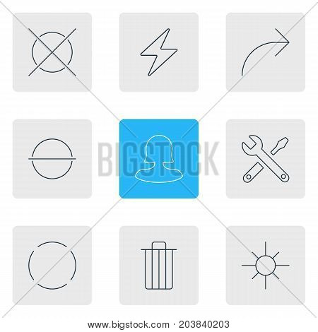 Editable Pack Of Repeat, Share, Cancel And Other Elements.  Vector Illustration Of 9 Interface Icons.