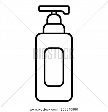 Shampoo dispenser icon. Outline illustration of shampoo dispenser vector icon for web design isolated on white background
