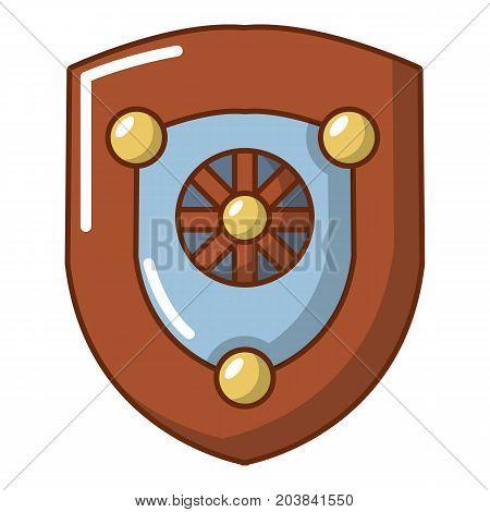 Shield icon. Cartoon illustration of shield vector icon for web