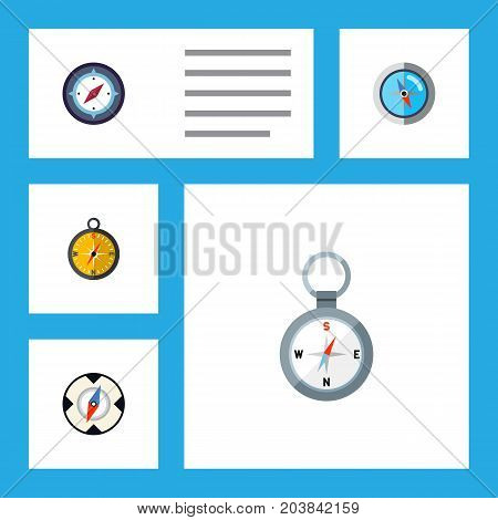 Flat Icon Direction Set Of Geography, Navigation, Magnet Navigator And Other Vector Objects