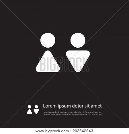 Male Vector Element Can Be Used For Woman, Male, People Design Concept.  Isolated Woman Icon.