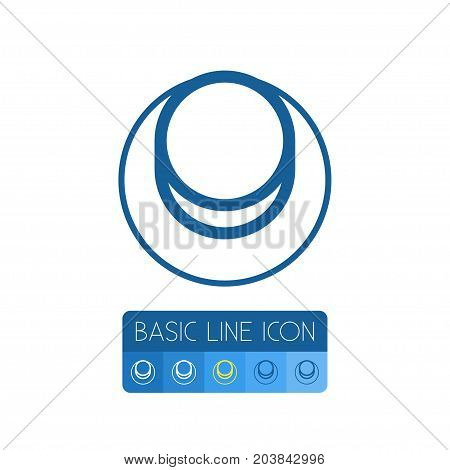 Click Vector Element Can Be Used For Click, Knob, Power Design Concept.  Isolated Knob Outline.
