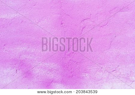 Background Of A Pink Stucco Coated And Painted Exterior, Rough Cast Of Cement And Concrete Wall Text