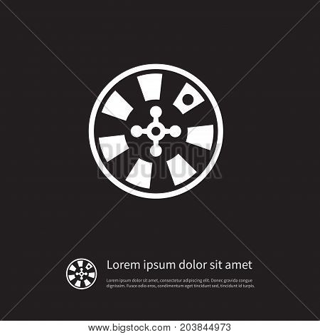 Chance Vector Element Can Be Used For Fortune, Chance, Wheel Design Concept.  Isolated Fortune Icon.