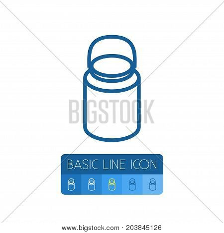 Dairy Jug Vector Element Can Be Used For Dairy, Jug, Urn Design Concept.  Isolated Urn Outline.