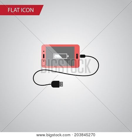 Accumulator Vector Element Can Be Used For Accumulator, Charge, Phone Design Concept.  Isolated Charge Flat Icon.
