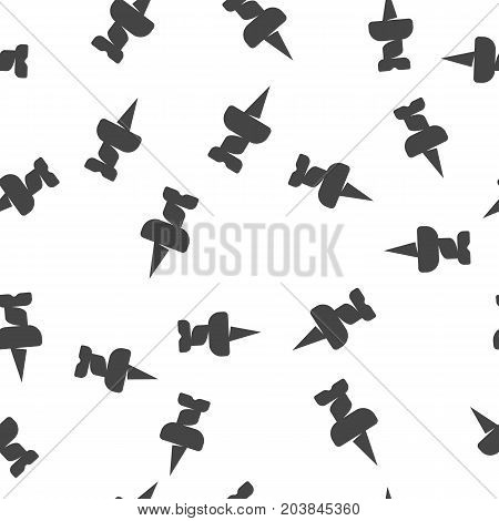 Push pin seamless pattern. Vector illustration for backgrounds