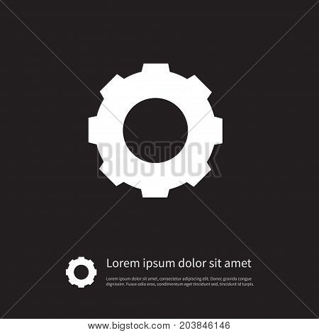 Gear Vector Element Can Be Used For Gear, Cogwheel, Mechanism Design Concept.  Isolated Cogwheel Icon.
