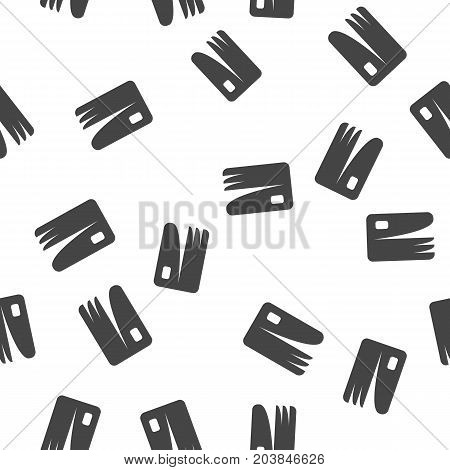 Credit card seamless pattern. Vector illustration for backgrounds