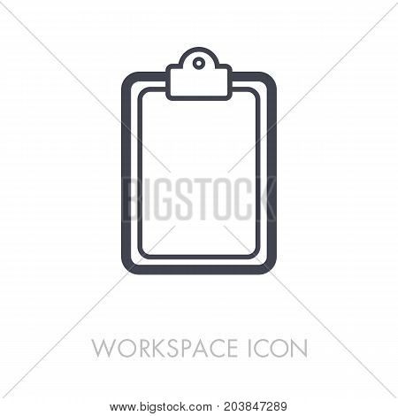 Clipboard outline icon. Workspace sign. Graph symbol for your web site design logo app UI. Vector illustration EPS10.