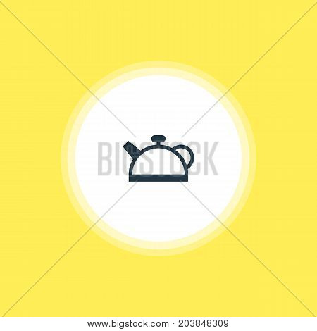 Beautiful Cooking Element Also Can Be Used As Teakettle Element.  Vector Illustration Of Teapot Icon.