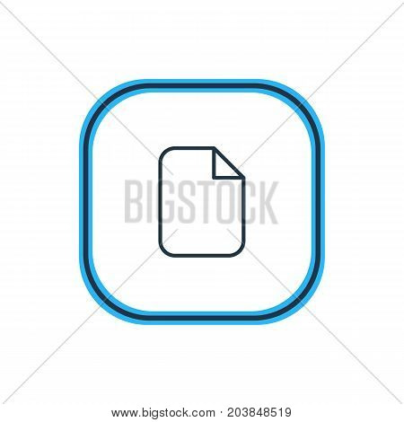 Beautiful Office Element Also Can Be Used As Document  Element.  Vector Illustration Of Blank Outline.