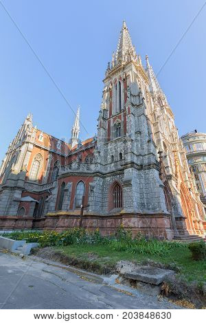 St. Nicholas Roman Catholic Cathedral and the National House of Organ and Chamber Music in Kiev Ukraine