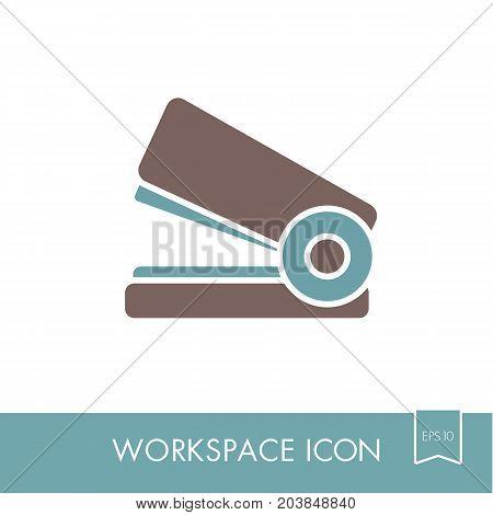 Stapler outline icon. Workspace sign. Graph symbol for your web site design logo app UI. Vector illustration EPS10.
