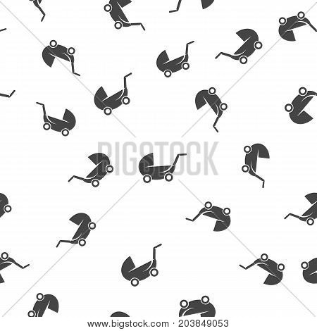 Buggy seamless pattern. Vector illustration for backgrounds