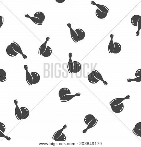 Bowling seamless pattern. Vector illustration for backgrounds