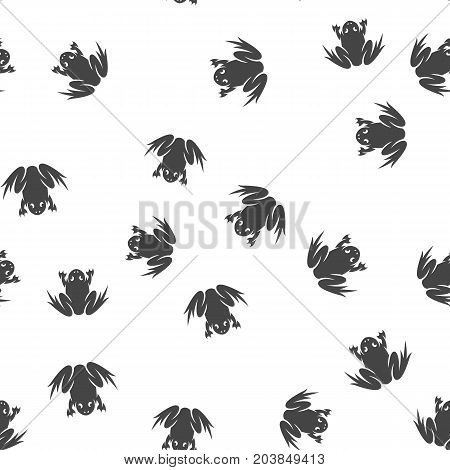 Frog seamless pattern. Vector illustration for backgrounds