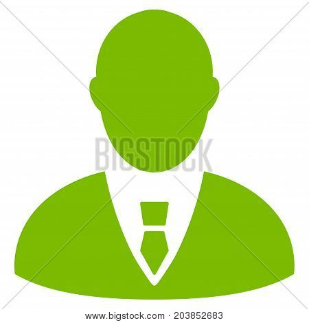 Manager vector icon. Flat eco green symbol. Pictogram is isolated on a white background. Designed for web and software interfaces.