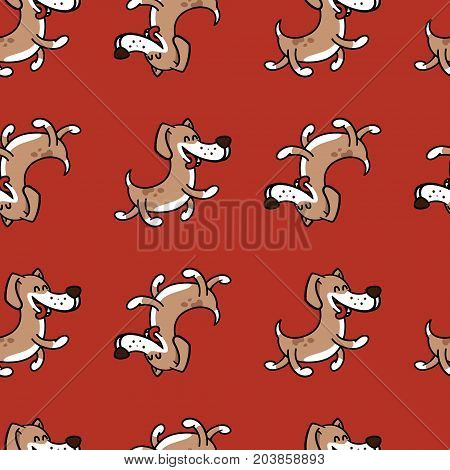 texture with a fun dog for children's polygraphy, textiles