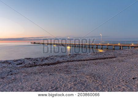 Rosebud Pier and Rosebud Beach on the Mornington Peninsula south of Melbourne.