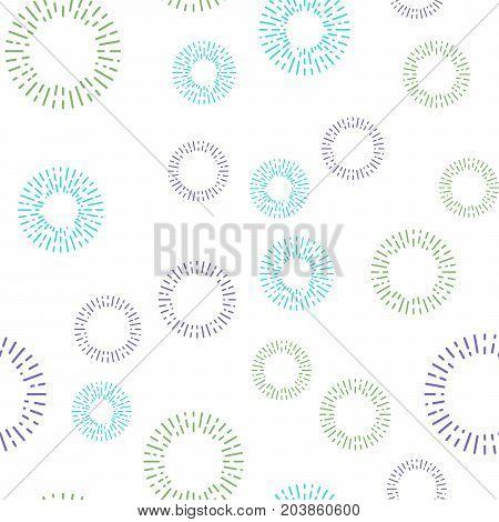 Simple seamless textile pattern with color round elements. Vector background illusrtration.