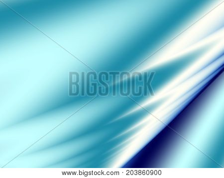 Light blue teal modern abstract fractal art. Simple background illustration with shiny spikes. Creative graphic template free style. For designs layouts projects book covers banners skins