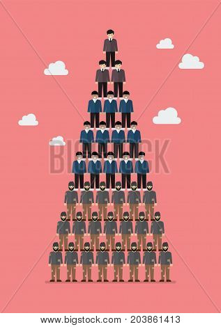 Pyramid of social class. Vector illustration graphic design