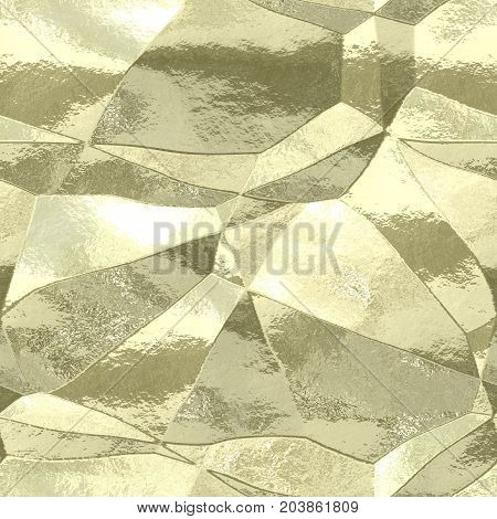 Silver gold seamless 3d texture foil delicate crumpled background
