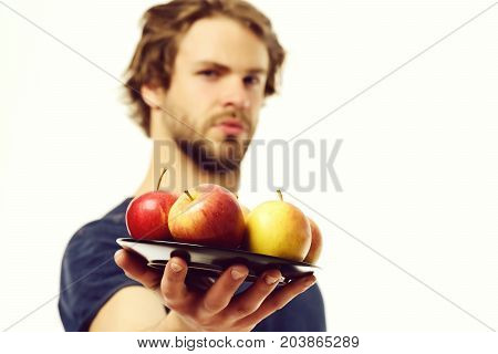Man Offers Apples
