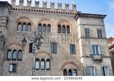 Parma (Emilia Romagna Italy): historic buildings in the Garibaldi square