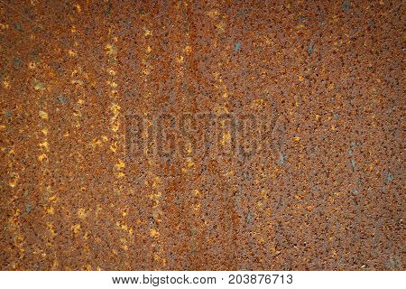 close up texture rusty of material for background add vignette effect
