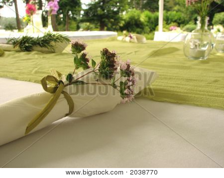 Pink Flowers Place Setting