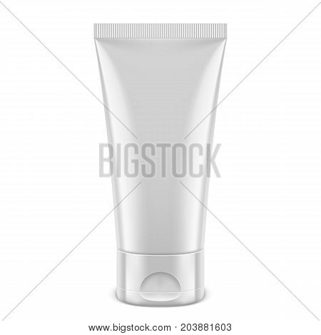 White tube for cosmetics, medicine, cream, gel, toothpaste. Product packaging mockup or template