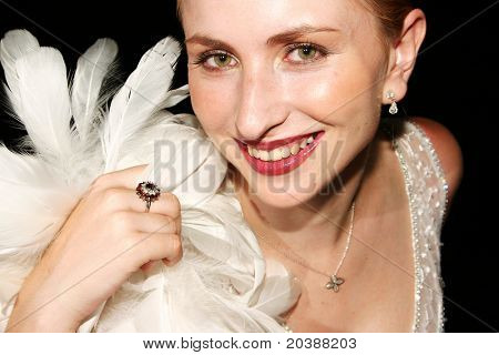 woman with a playful smile