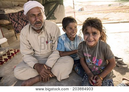 People In Unofficial Refugee Camp