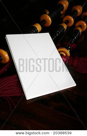 white card background on windpipes