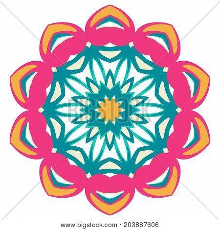 Colorful Mandala. Ethnic Tribal Ornaments