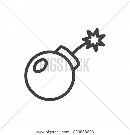 Vector Dynamite   Element In Trendy Style.  Isolated Bomb Outline Symbol On Clean Background.
