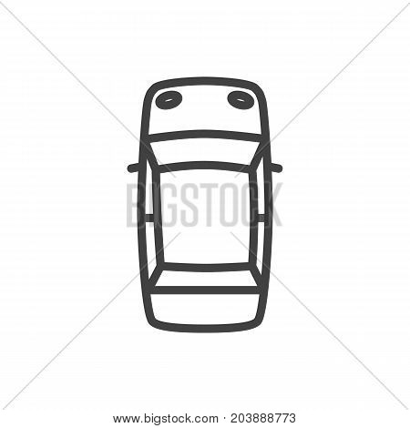Vector Top Element In Trendy Style.  Isolated Driving Outline Symbol On Clean Background.