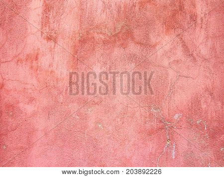 Concrete, Weathered, Worn Wall Damaged Paint. Grungy Concretconcrete, Weathered, Worn With Cracks An