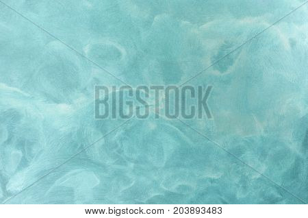 Abstract Aqua Blue Painted Background