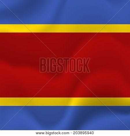 Swaziland waving flag. Waving flag. Vector illustration.