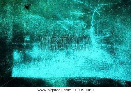 Grunge wall background with dents and chalk marks on plaster texture
