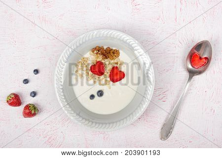 Various summer Fresh berries in a white background.. Antioxidants, detox diet, organic fruits