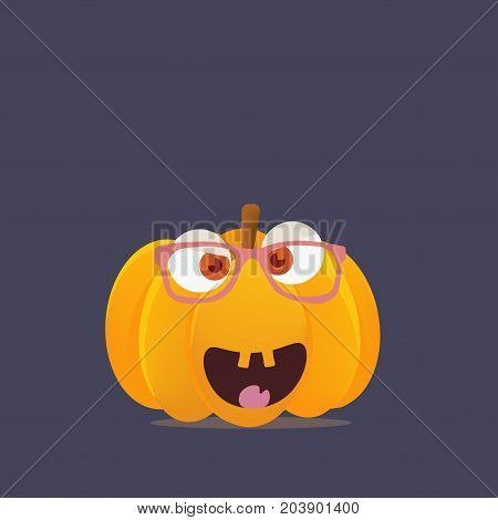 Fall or Autumn Fest or Festival Pumpkin or squash character with boyish face. Great as a mascot for Fall Harvest Feast. Could be also used for Halloween evening materials. poster