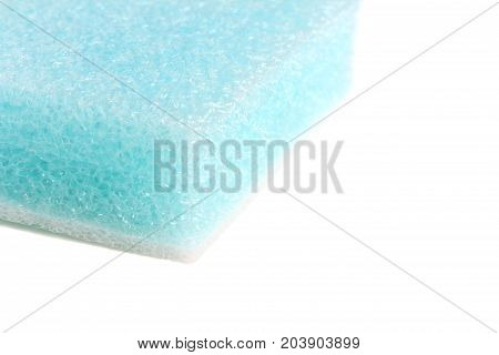 Blue Packing Foam Double Layers on white background